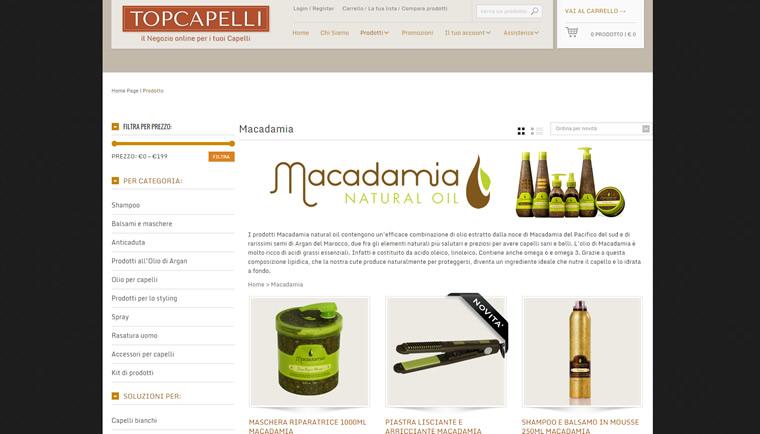 Vendita online prodotti per capelli