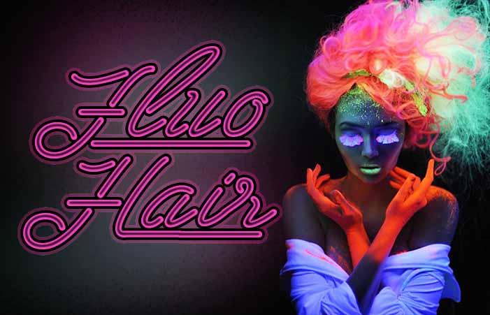 fluo hair