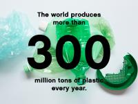 Il mondo produce più di 300 milioni di tonnellate di plastica ogni anno.